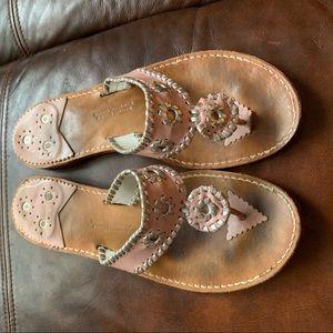 Pink palm beach sandals banannos